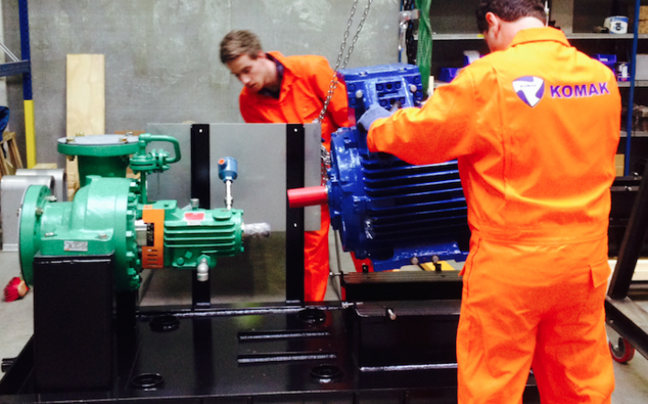 API 610 pump set assembly